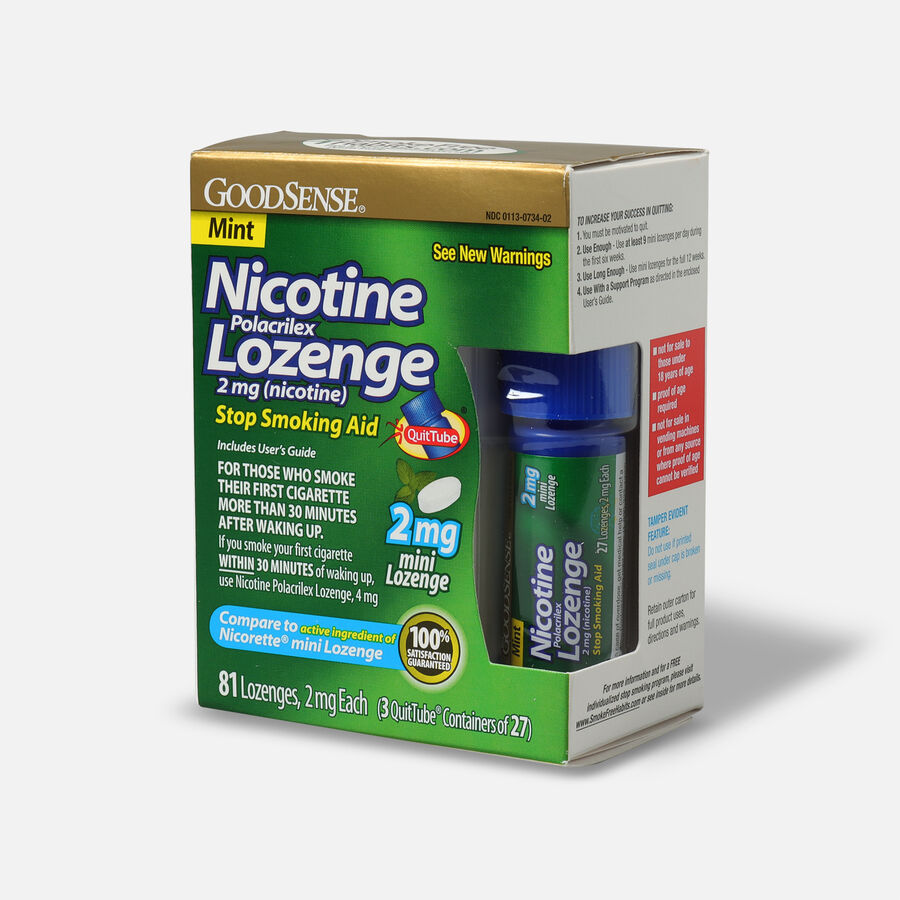GoodSense® Nicotine Mini Lozenge Quit Tube Mint 2 mg, 81 ct, , large image number 2
