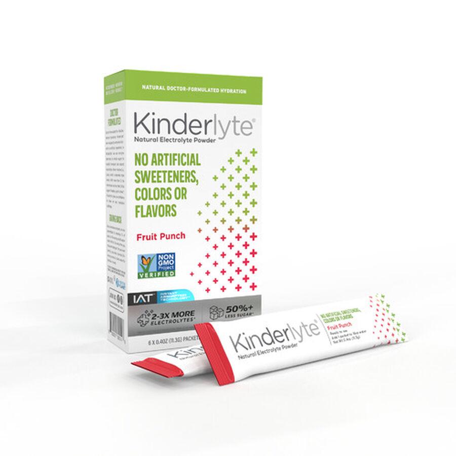 Kinderlyte Electrolyte Powder, 6 Count, , large image number 0