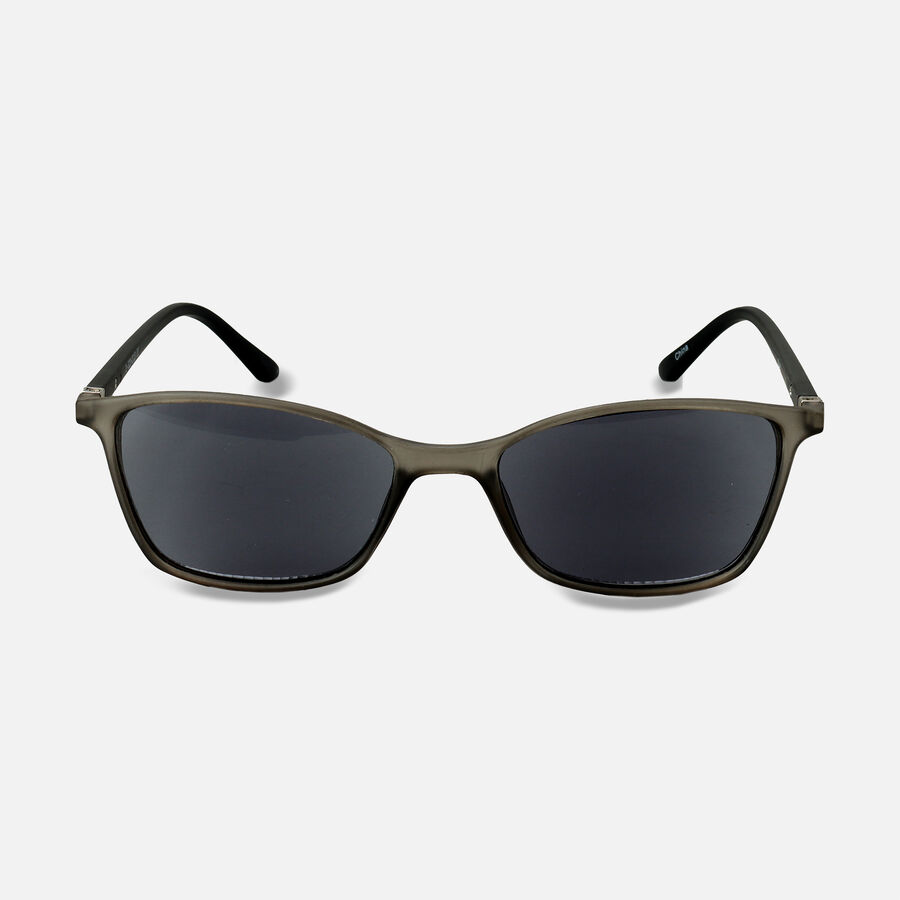 Sunglass Reader with Smoke Tint, Matte Crystal Gray, , large image number 6