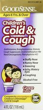 GoodSense® Childrens Cold & Cough, Grape 4 oz, , large image number 0