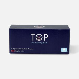 TOP Organic Cotton Cardboard Applicator Tampon, Regular, 16 ct