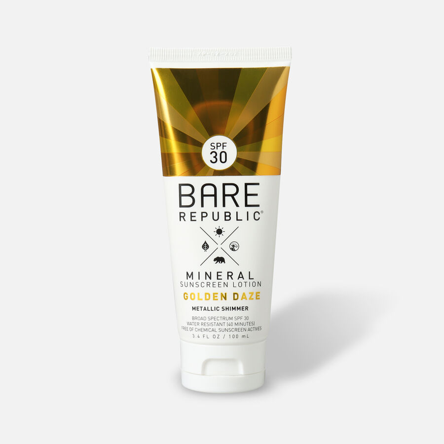 Bare Republic Mineral SPF 30 Gold Shimmer Sunscreen Lotion - Golden Daze, , large image number 0