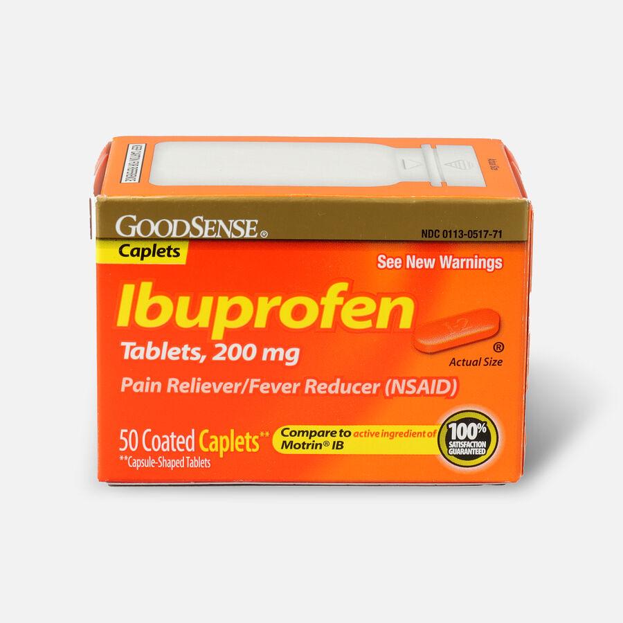 GoodSense® Ibuprofen IB Coated Caplets, 200 mg 50 ct, , large image number 0