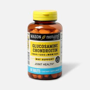 Mason Vitamins Natural Glucosamine Chondroitin 1500/1200 Plus MSM 500, 90 Tablets