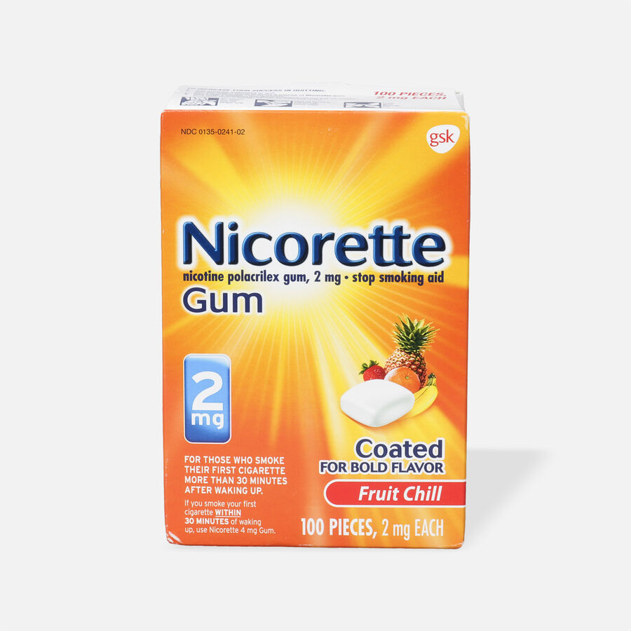 Nicorette Nicotine Gum, Fruit Chill, 2mg, 100 ct, , large image number 0