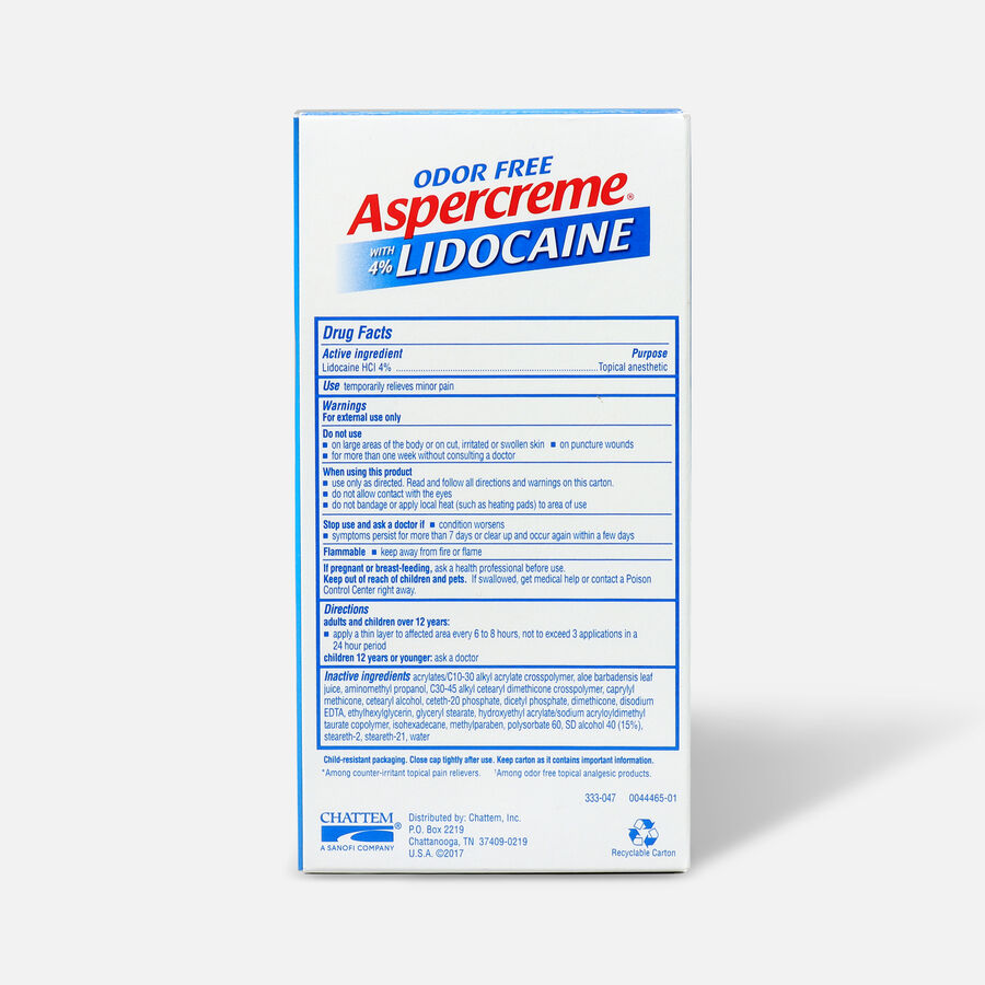 Aspercreme No Mess Roll-On with 4% Lidocaine, 2.5 fl. oz., , large image number 1