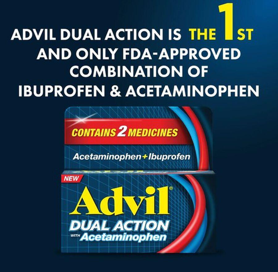 Advil Dual Action Coated Tablets, Acetaminophen + Ibuprofen, , large image number 3