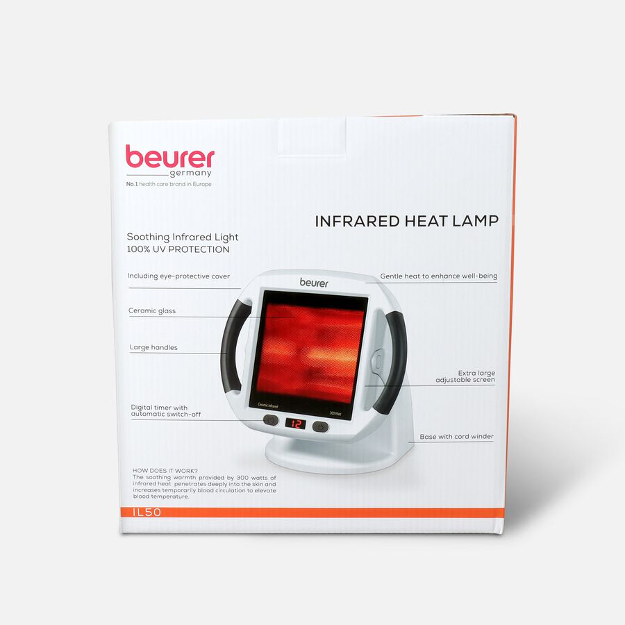 Beurer Pain Relief Infrared Red Light Heat Lamp, , large image number 1