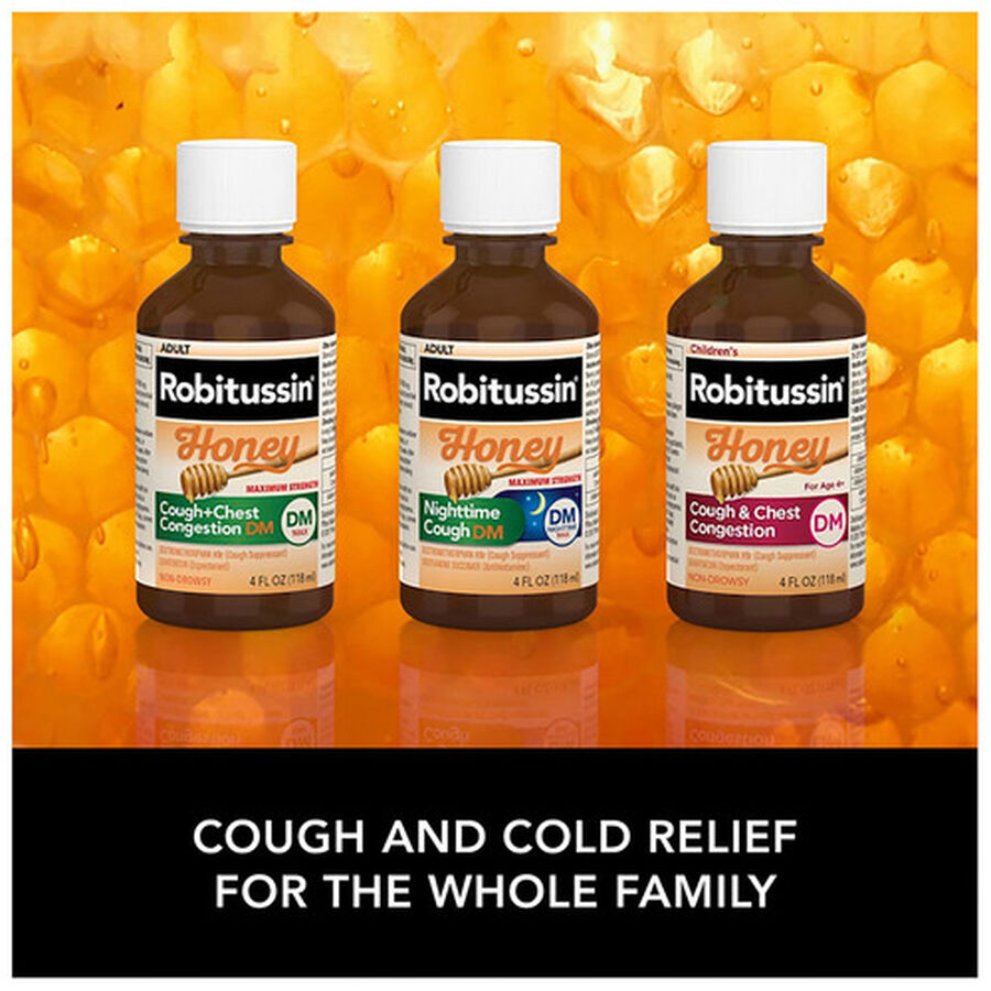 Robitussin Honey Cough and Congestion DM, Maximum Strength, 8 fl oz, , large image number 7