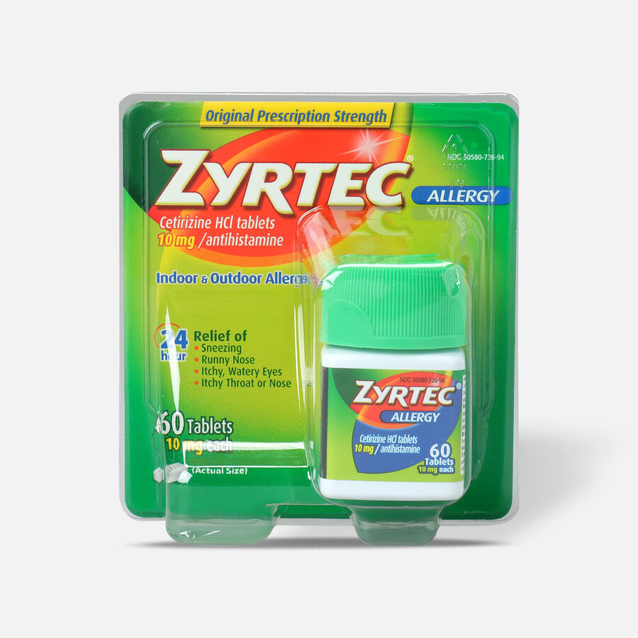 Zyrtec Adult Allergy Relief Tablets, 10mg, , large image number 0