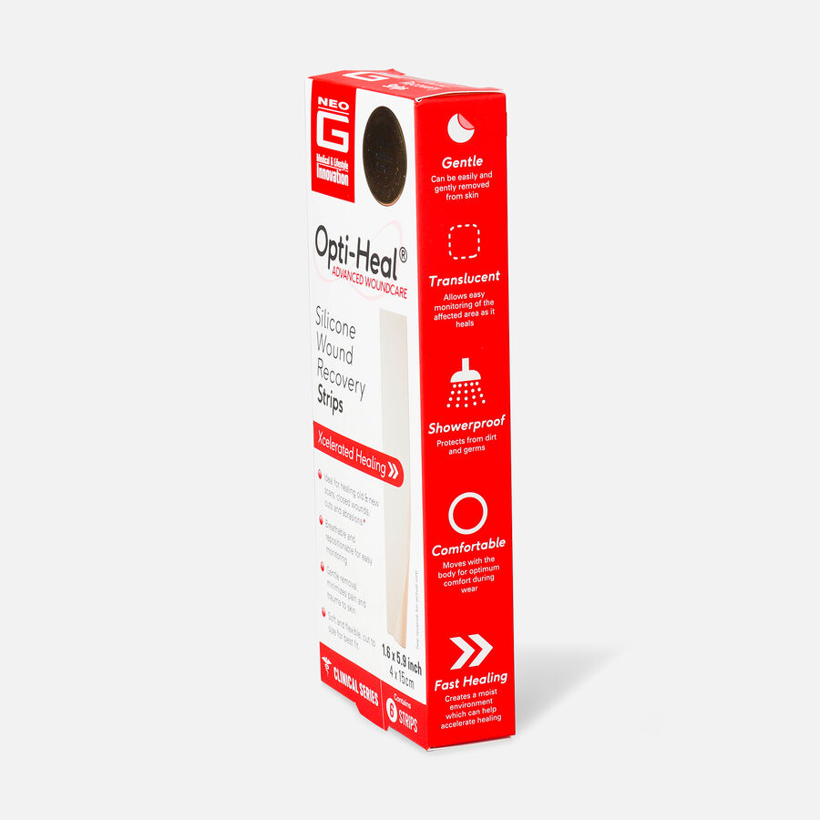 """Neo G Silicone Wound Recovery Strips, 1.6""""x 5.9"""" – 6 ct, , large image number 3"""