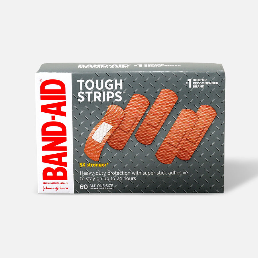 BAND-AID® TOUGH-STRIPS®Adhesive Bandages, 60 Count, , large image number 0