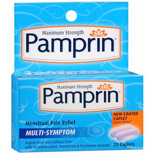 Pamprin Maximum Strength Multi-Symptom Menstrual Pain Relief - 20ct