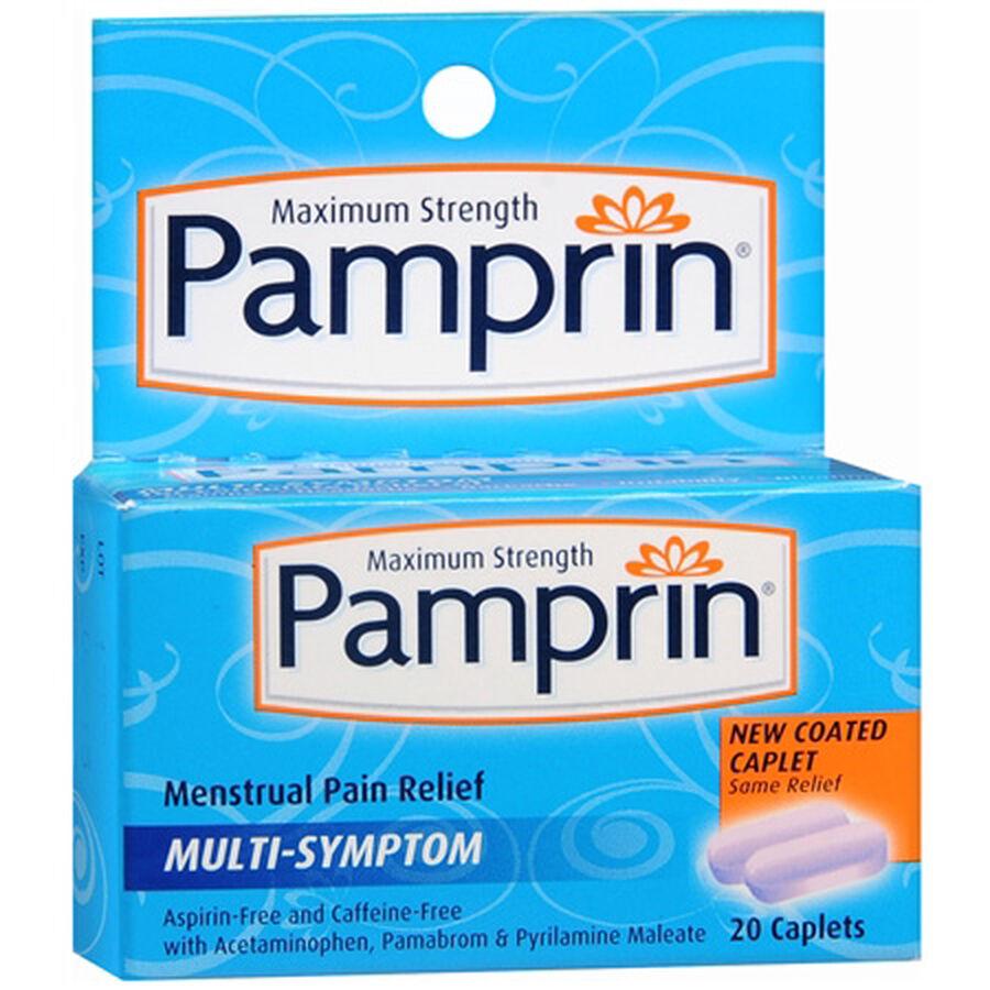 Pamprin Maximum Strength Multi-Symptom Menstrual Pain Relief - 20ct, , large image number 0