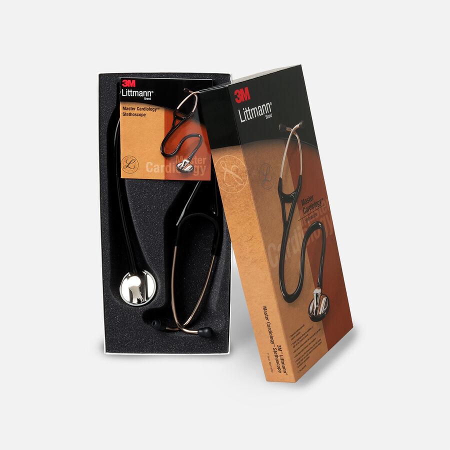 """3M Littmann Master Cardiology Stethoscope, Black Tube with Standard Finish, 27"""", , large image number 2"""