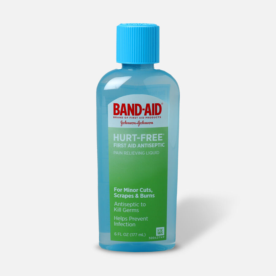 Band-Aid Antiseptic Wash, Hurt-Free, 6 fl oz, , large image number 0