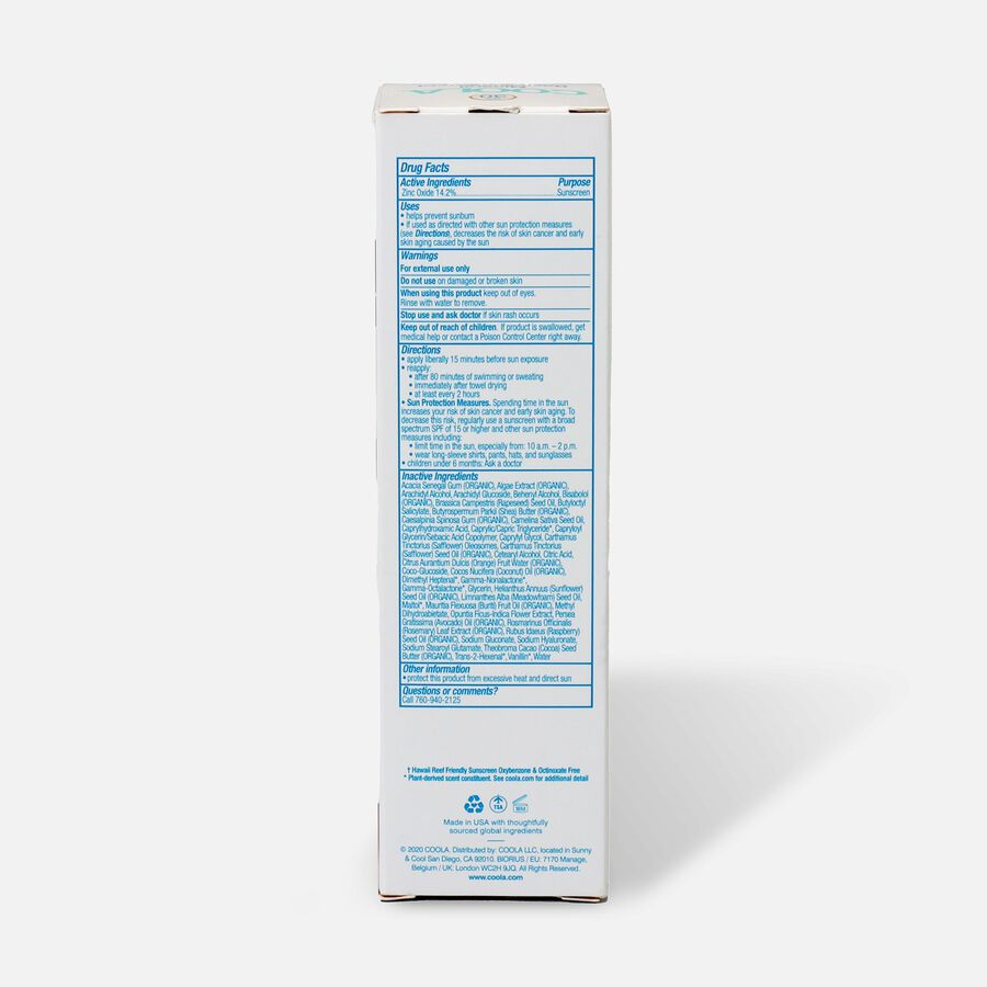 Coola Mineral Body Organic Sunscreen Lotion SPF 30, Fragrance Free - Travel Size, , large image number 2