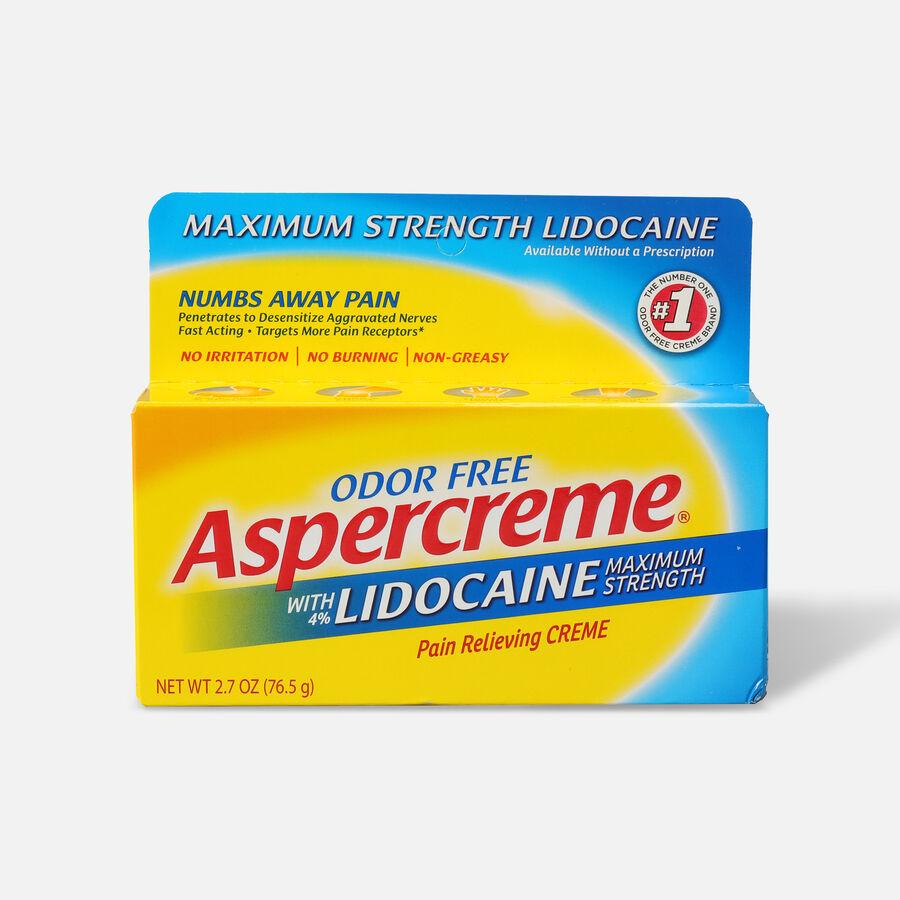 Aspercreme Lidocaine Creme, 2.7 oz., , large image number 0