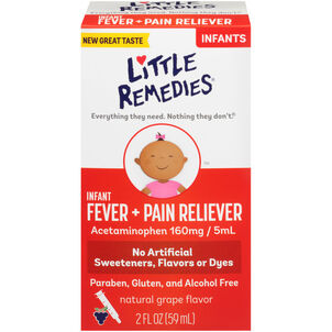 Little Fevers Infant Fever & Pain Reliever, Grape, 2 oz