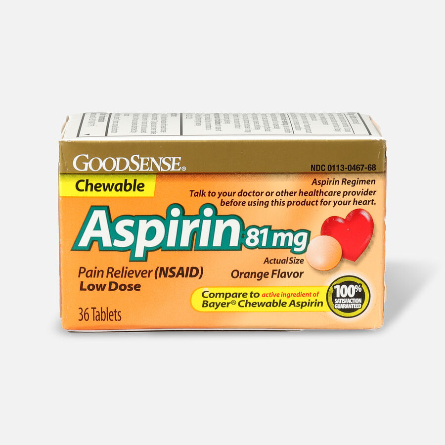 GoodSense® Aspirin 81 mg Low Dose Chewable Tablets, , large image number 3