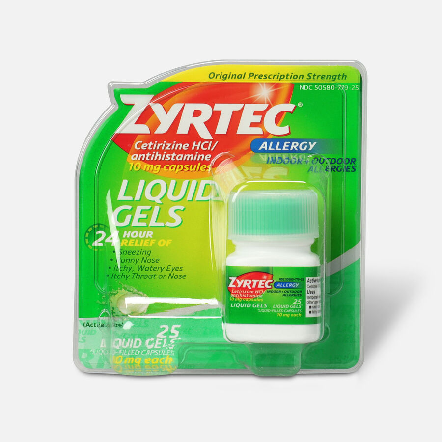 Zyrtec 10mg Allergy Liquid Gels - 25 Count, , large image number 0