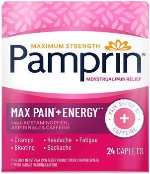 Pamprin Maximum Strength Caplets, 24 ct