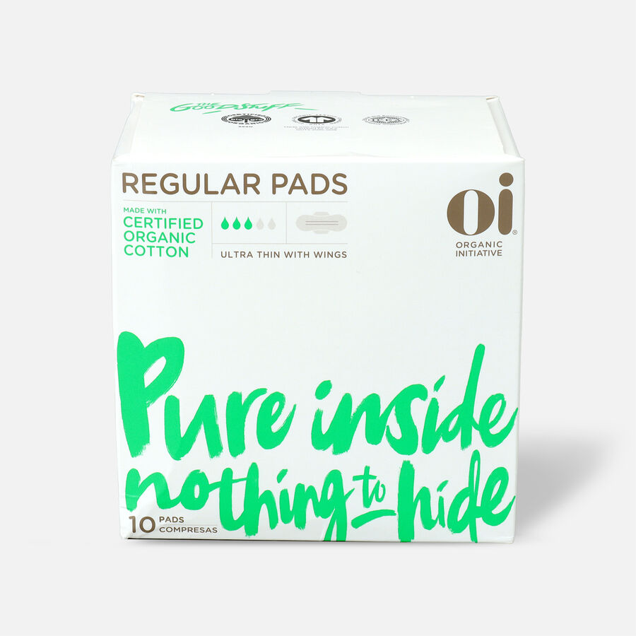 Oi Organic Cotton Ultra Thin Pads with Wings, , large image number 0