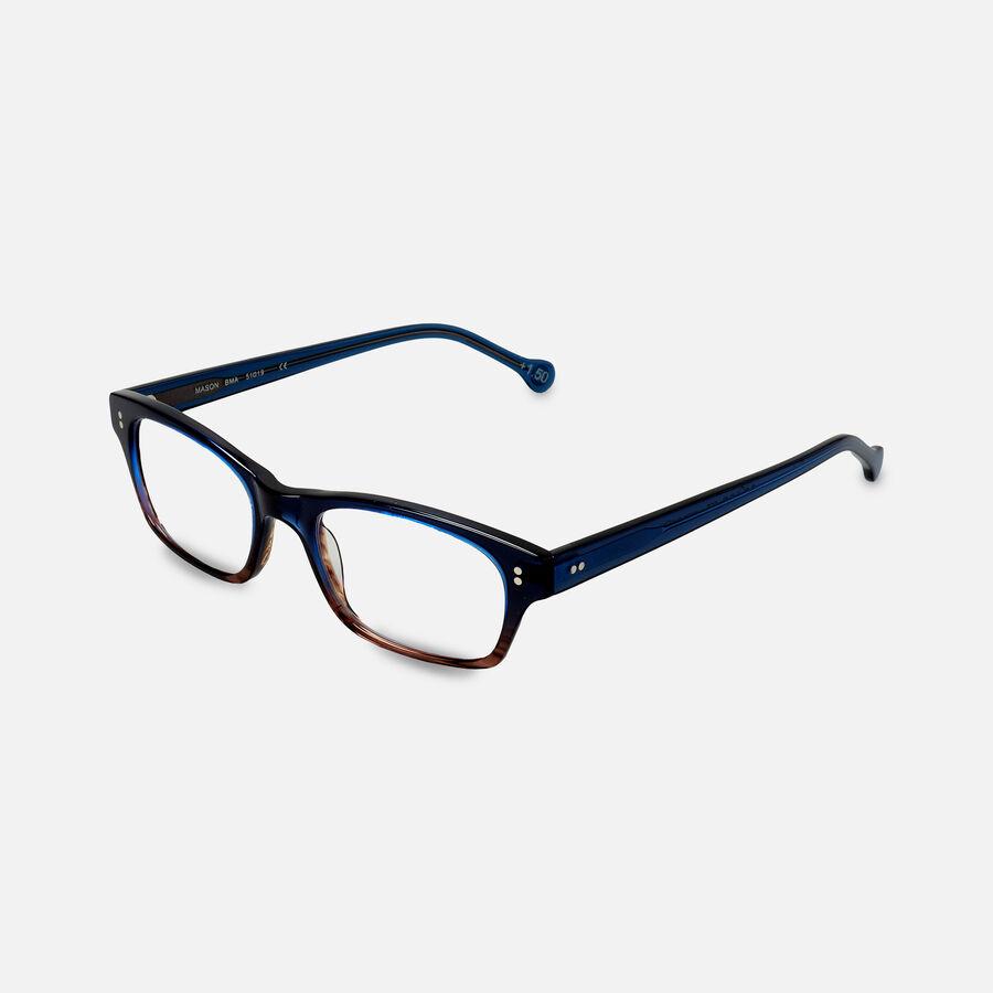 eyeOs Mason Blue Premium Reading Glasses, , large image number 2