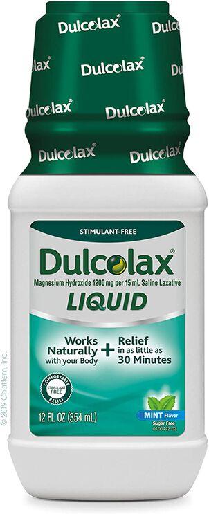 Dulcolax Liquid Laxative, Mint Flavored, 12 oz