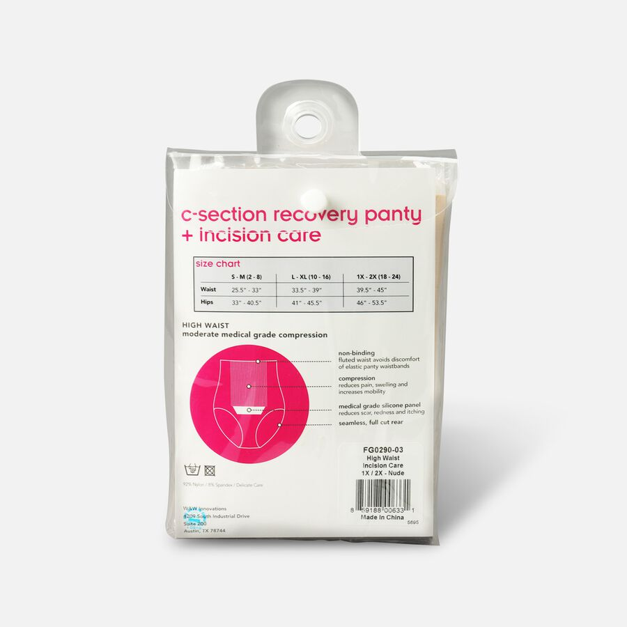 UpSpring C-Section Recovery Panty Plus Incision Care Nude 1X/2X, , large image number 1
