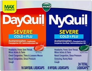 Vicks DayQuil/NyQuil Cold and Flu Combo Liquicaps