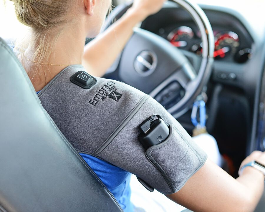 Battle Creek Embrace ™ Relief Shoulder Wrap – Portable, 3 Temperature Settings, Auto Shut Off, Wireless & Rechargeable Wrap, Battery-Operated Heat Therapy Wrap for Rotator Cuff and Shoulder Pain Relief, , large image number 21