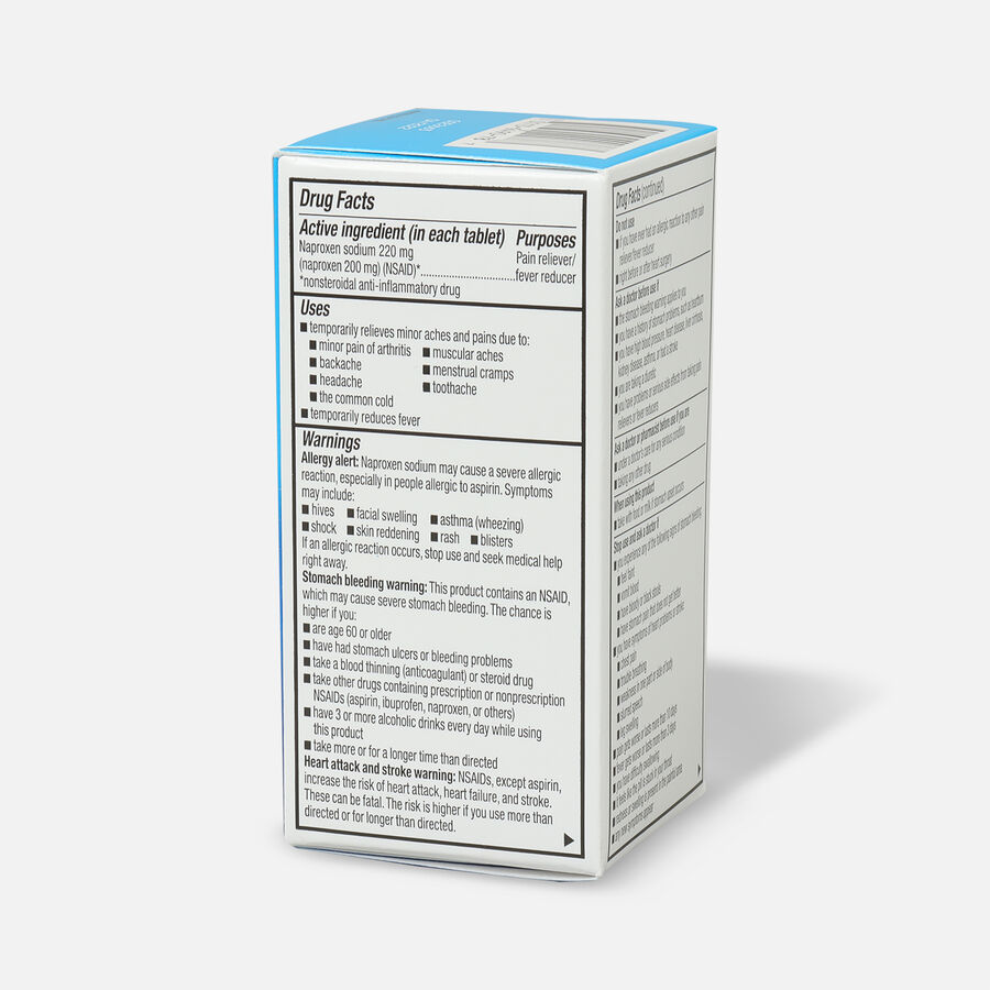 GoodSense® Naproxen Sodium Tablets 220 mg, All Day Pain Relief, 100 ct, , large image number 3