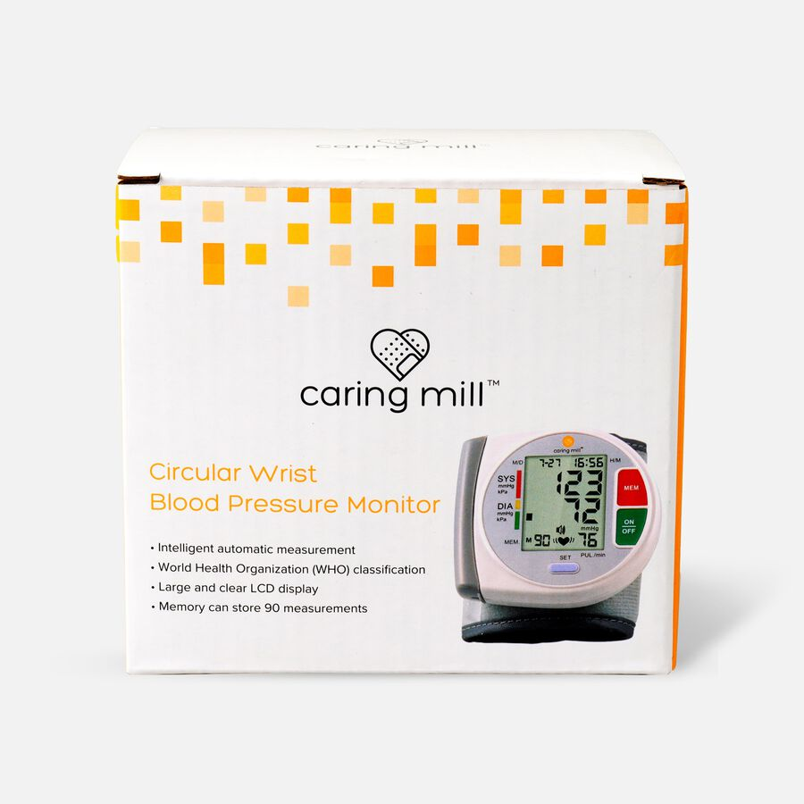 Caring Mill® Circular Wrist Blood Pressure Monitor, , large image number 0