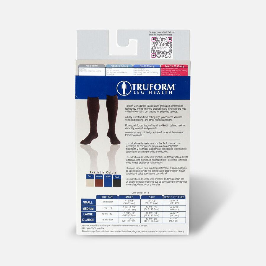 Truform Men's Dress Knee High Support Sock, 30-40 mmHg, Closed Toe, Black, , large image number 7