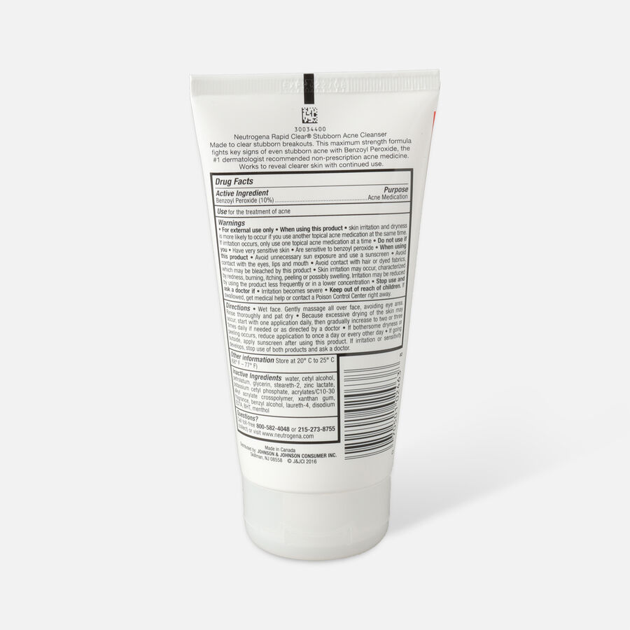 Neutrogena Rapid Clear Stubborn Acne Cleanser, 5oz., , large image number 1