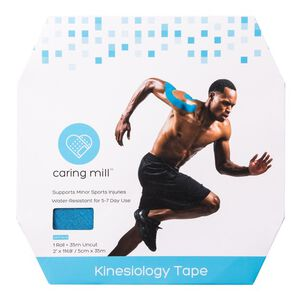 Caring Mill® Kinesiology Tape,115 Feet Uncut Roll, Blue