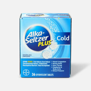Alka-Seltzer Plus Cold Formula Sparkling Original Effervescent Tablets, 36 Ct