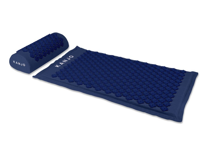 Kanjo Memory Foam Acupressure Mat Set, Navy Blue, , large image number 2