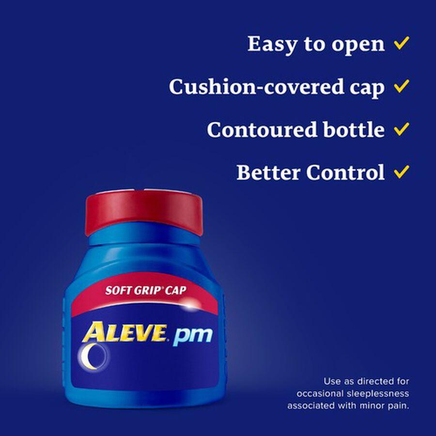 Aleve PM Caplets, Soft Grip Cap, , large image number 5
