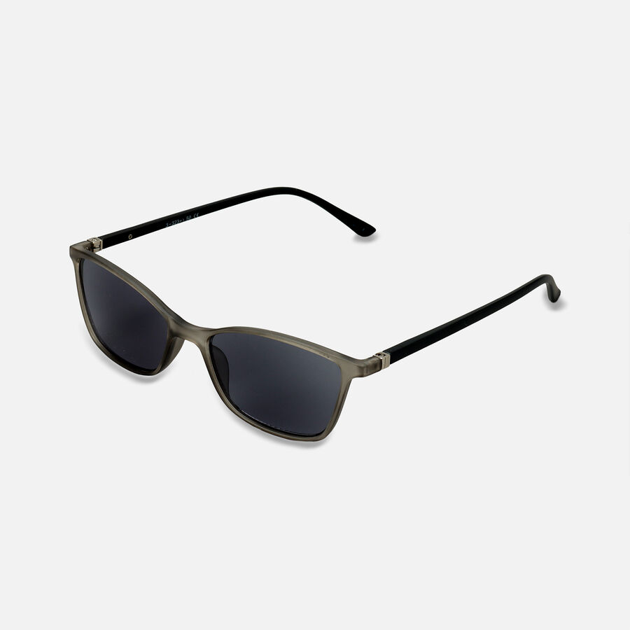 Sunglass Reader with Smoke Tint, Matte Crystal Gray, , large image number 3