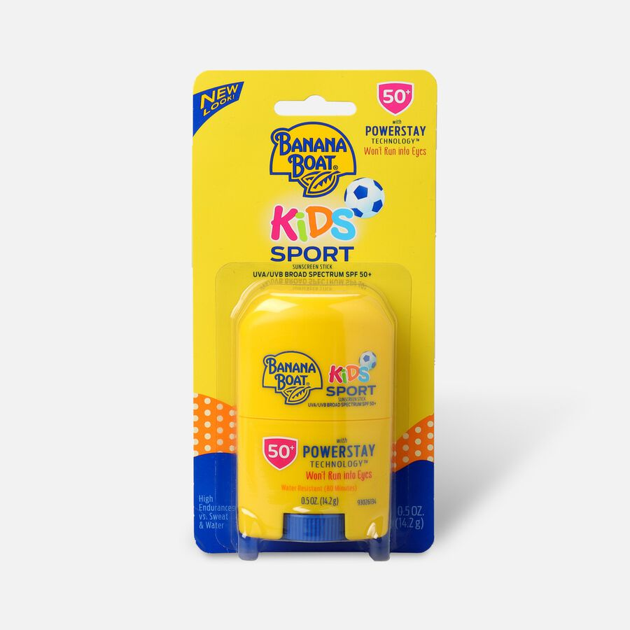 Banana Boat Kids Sport Sunscreen Stick SPF 50+, .5oz, , large image number 0