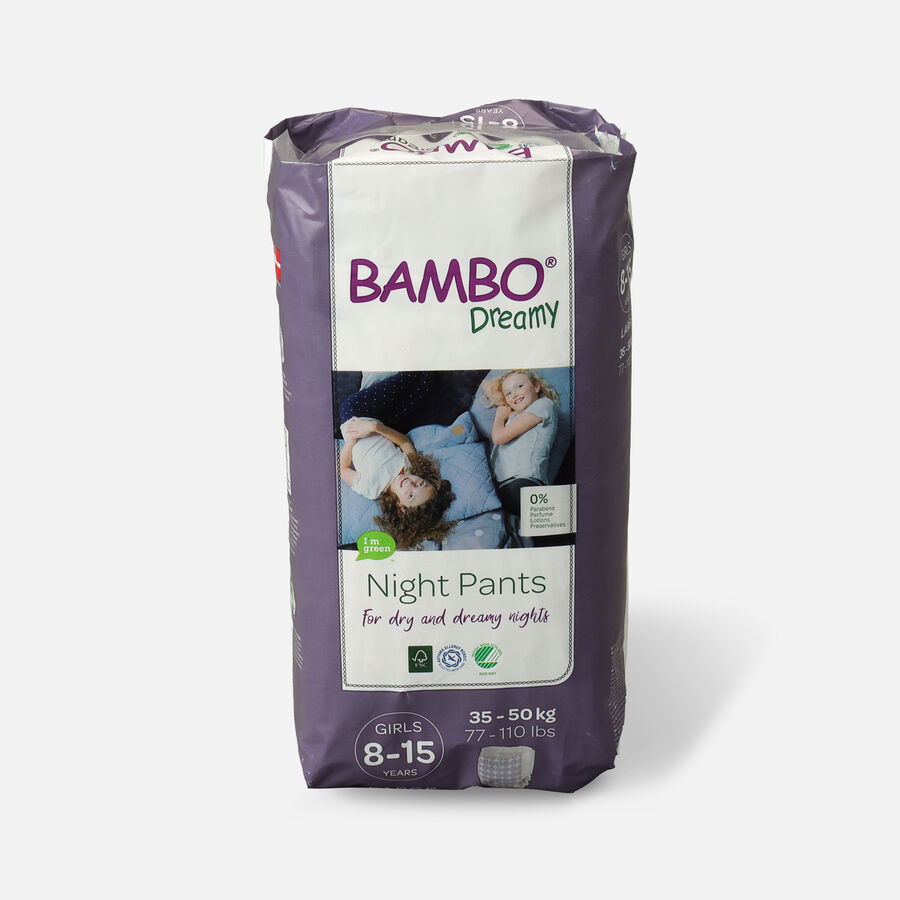 Bambo Dreamy Night Pants, Girls, 4-7 Years, 10ct, , large image number 3