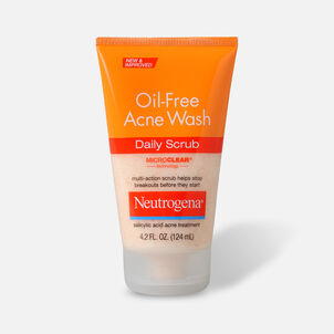 Neutrogena Oil-Free Acne Daily Face Scrub, 4.2oz.