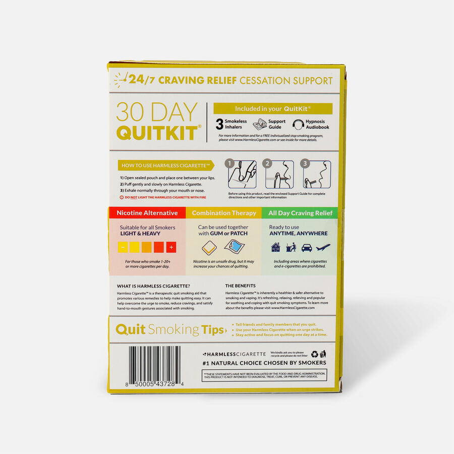 Harmless Cigarette Quit Smoking Aid, 30 Day Quit Kit, Lemon, , large image number 1