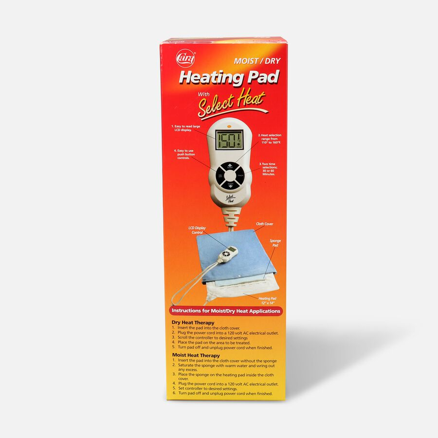 """Cara Moist/Dry LCD Heating Pad with Select Heat 12"""" x 15"""", Model 72, , large image number 2"""