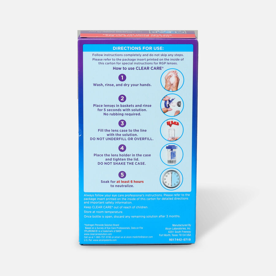 Clear Care Triple Action Cleaning Contact Travel Pack 3 oz, , large image number 1