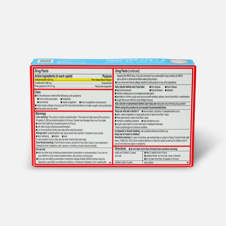 Tylenol Cold + Head Congestion Severe Medicine Caplets, 24 ct., , large image number 1
