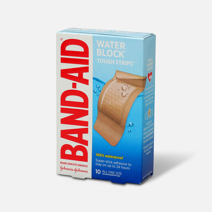 Band-Aid Adhesive Bandages, Extra Large Tough-Strips Waterproof, 10 ea, , large image number 2