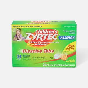 Children's Zyrtec 10mg Dissolve Tabs, Citrus Flavor, 24 ct